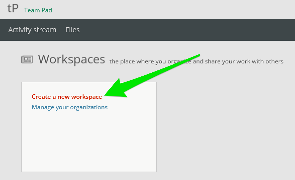 Create workspace 1