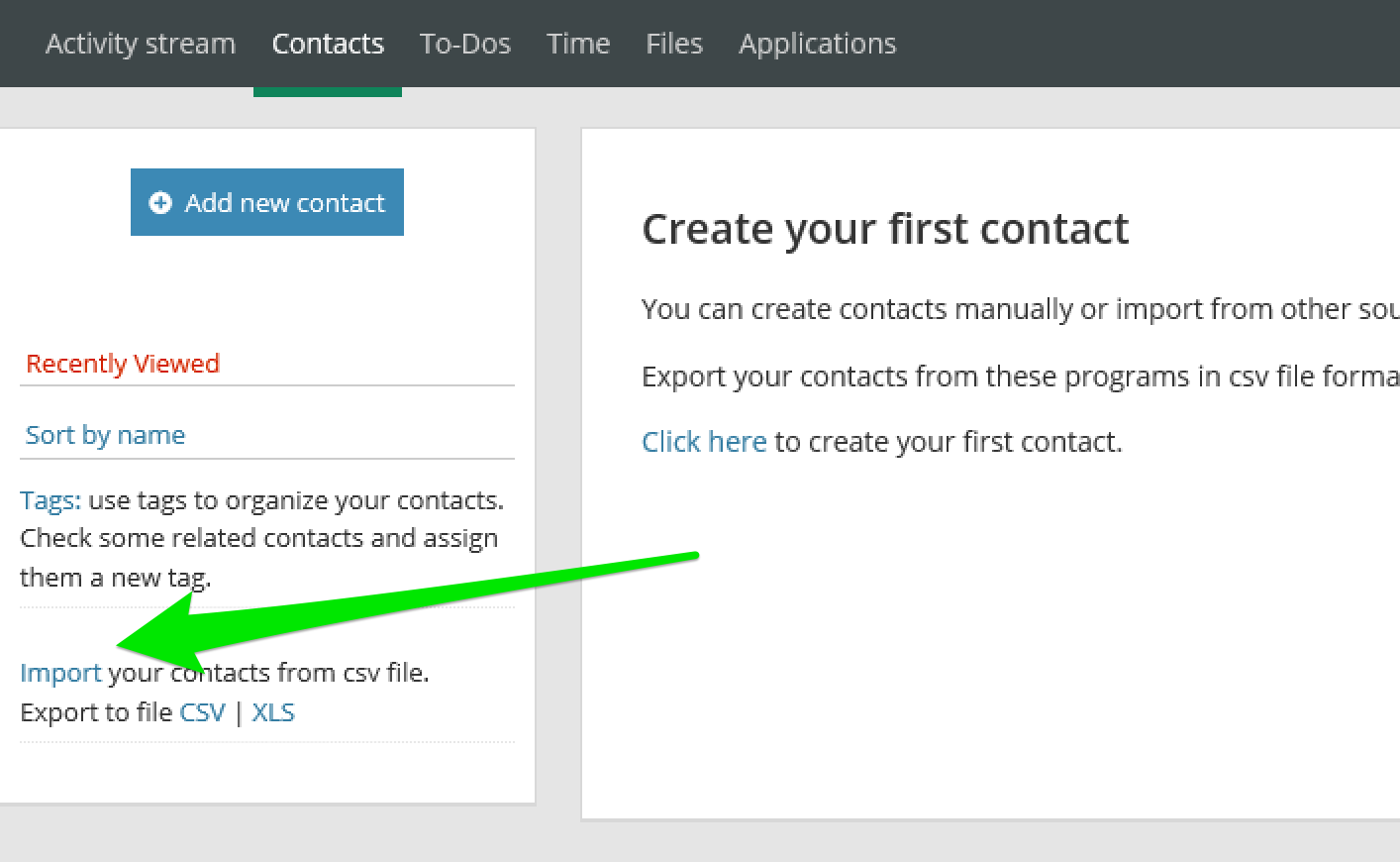 Manage your contacts 2